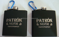 stainless steel rubber coating hip flask