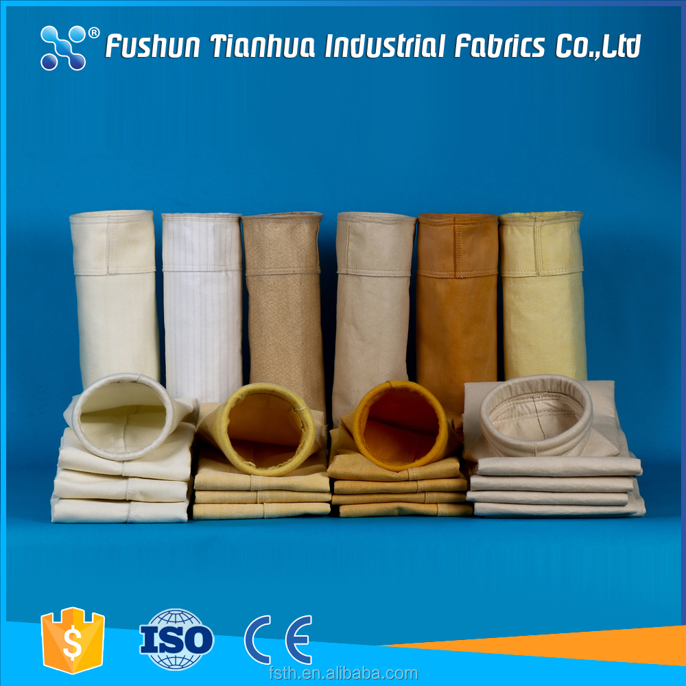 Hot sale Polyester /PP /PTFE /Nomex dust filter bags by direct factory supply