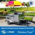 BAOJU HD-23 New model mobile hot dog cart hand push hot dog cart for sale cheap hot dog cart designing