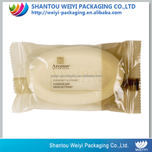 Hotel product plastic packaging bag bath soap/body bar soap bar packaging