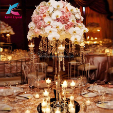 Hot sell tall votive candle holder wedding centerpiece crystal candelabra