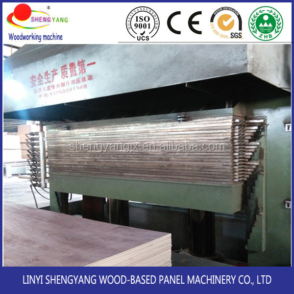 melamine laminating plywood hot press machinery for furniture making in India