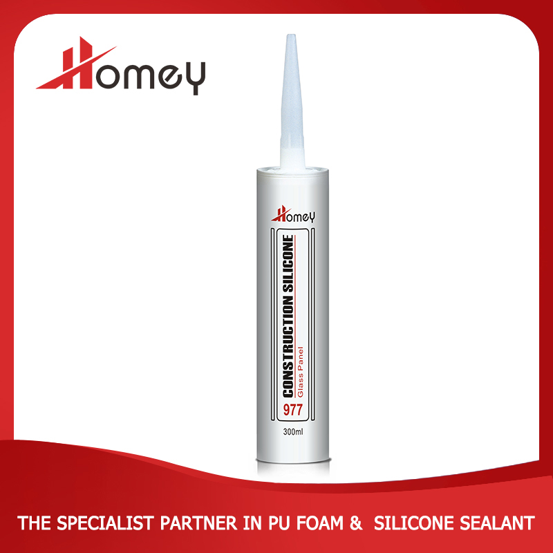 Homey 977 waterproof acetoxy silicone sealant for glass curtain wall