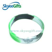 Professional produce blank silicon bracelets with swirl color