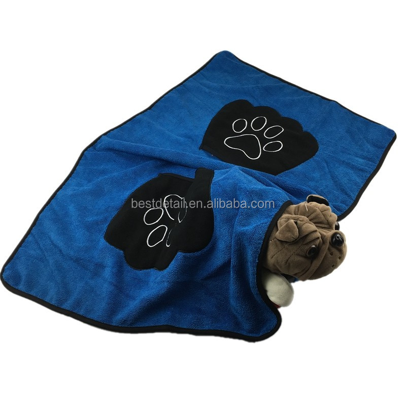 Personalised Dog Grooming Drying Washing Microfiber Pet Bath Towel