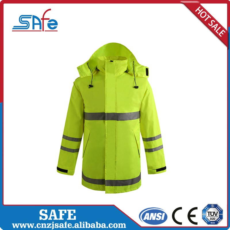 High quality construction raincoat for winter