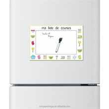 Cartoon Kitchen Style Custom Made Dry Erase Magnetic Fridge Memo Pad Boards