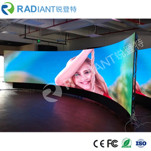 P2.5 indoor full color video programmable flexible led curtain display