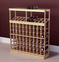 Raching oka/cherry rose solid wood wine rack for wine display