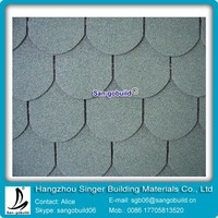2015 New Design 5-tab Asphalt Shingle ,Fish-scale Asphalt Shingle,Bitumen Asphalt Shingle