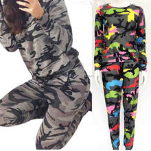 Truck Suit in Sport Fashion Spring Autumn Long Sleeve Camouflage Suit Sporting Suit Womens Tracksuits Uniform Women's Set