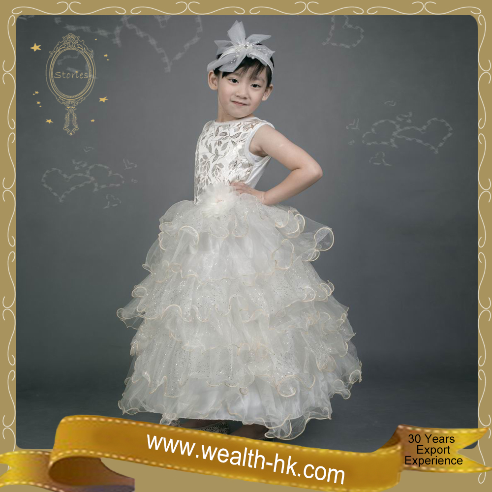 Stories Golden Romantic Party Dress Wedding Ball Gown Bridal Evening costume kids for girls kids party dresses