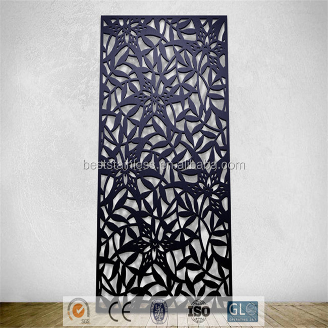 Home Improvement Room Divider Panel Metal Partitions For Garden