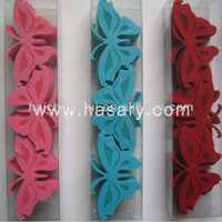 2013 felt butterfly wooden eco-friendly ornaments