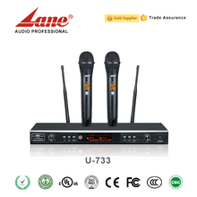 Lane Stable performance UHF wireless microphone professional for Karaoke U-733