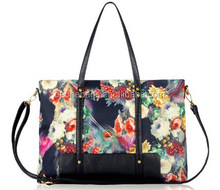 Online Shopping India Custom Made Stylish Floral Leather Lady Tote Shoulder Bag