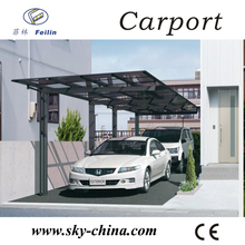 Polycarbonate and aluminum carport waterproof canopy / car shed