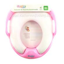 Children baby care products kids soft toilet seat with handle for bathroom