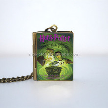 HP and The Half Blood Prince Book Locket Necklace keyring silver & BRONZE tone VISION 4