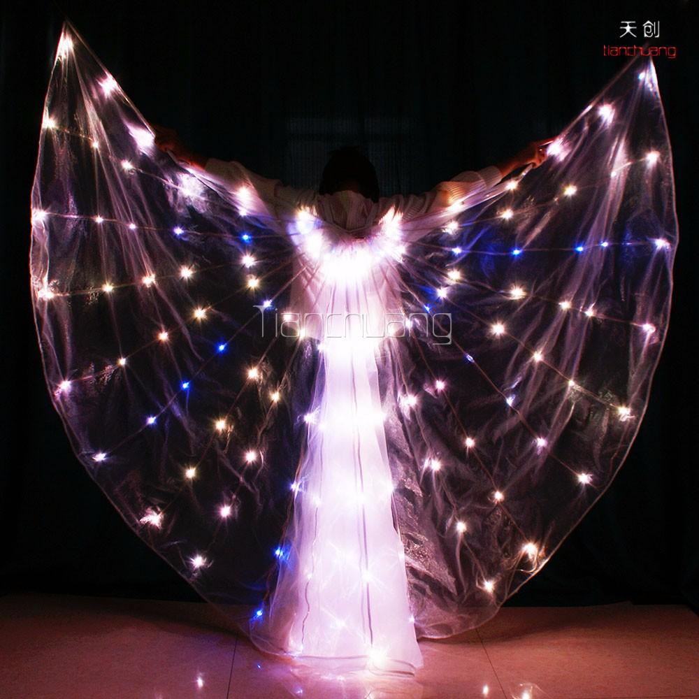 LED isis wings rechargeable belly dance club light show butterfly wing costume