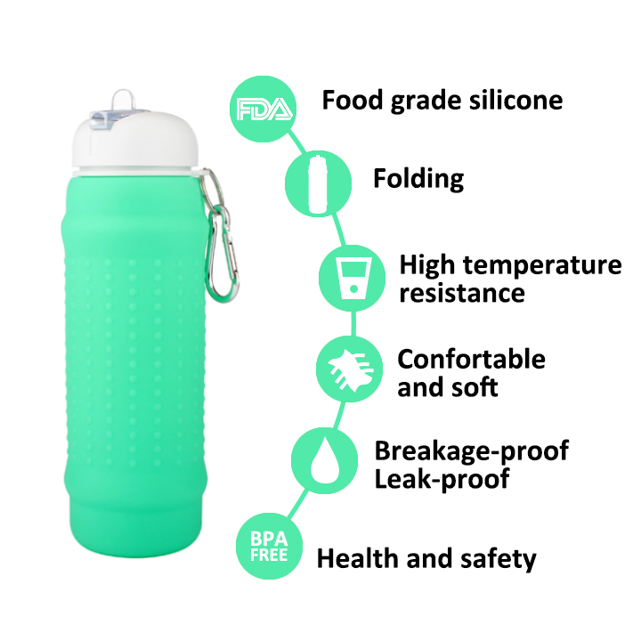 Best Lightweight Compressible Bike Folding Drinking Water Bottle