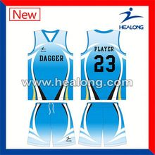 Healong Digital Printing Children Basketball Jersey Design 2012