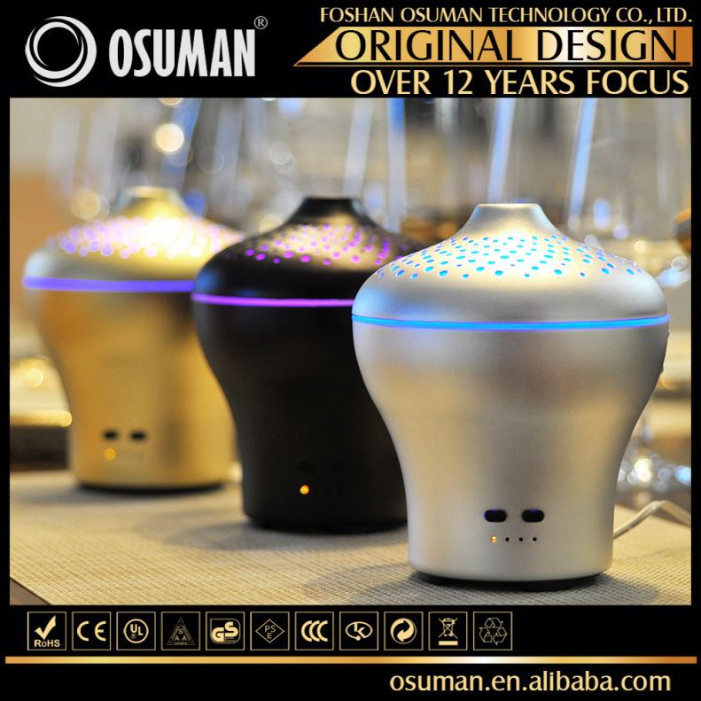 Ultrasonic Led Aroma Air Purifier And Humidifier Aluminium Aroma Diffuser
