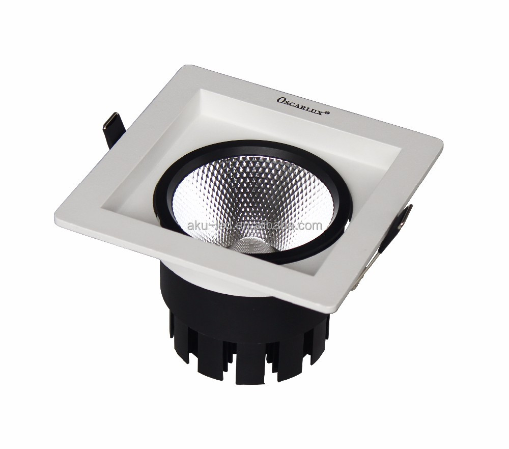 2016 New China LED Lights Square Downlight 10W Adjustable with Lens