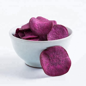 Organic vacuum fried purple sweet potato chips