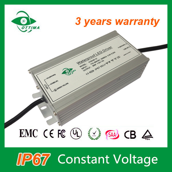 12v 5A 60w ip67 constant voltage power waterproof electronic 0-10v dimming led driver