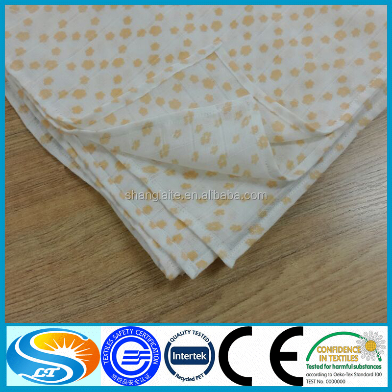 China wholesale custom cotton printed muslin baby blanket for Wholesale baby fabric