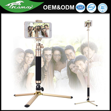 Sinnofoto good quality super light waterproof phone tripod selfie stick monopod for iphone/ camera