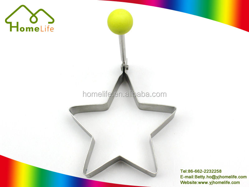 Cute star shape stainless steel omelette cooker mold egg fry ring