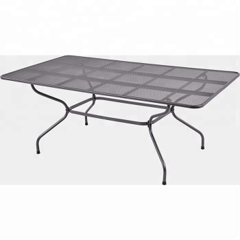 Cheap Metal Mesh Rectangular Patio Garden Dining Table