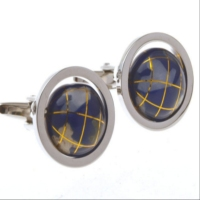 2013 Latest Ultimate cufflink enamel gold and bar and epoxy