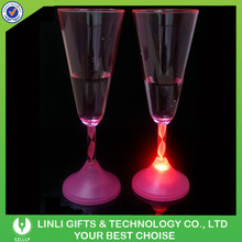 Promotional Cheap Plastic Party LED Cup For Decoration, Colorful Light Up Champange Party LED Cup For Wine Gifts