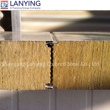 low cost zlock rockwool sandwich panel