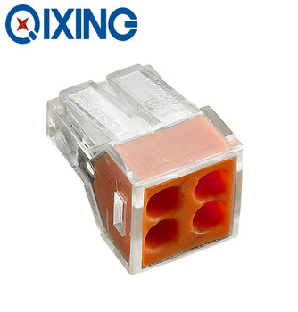 CE/CQC/Rohs Approval push in 4 holes electrical terminal connector