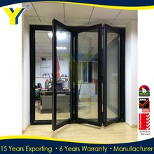 Partition for banquet hall good soundproof double glass exterior folding door