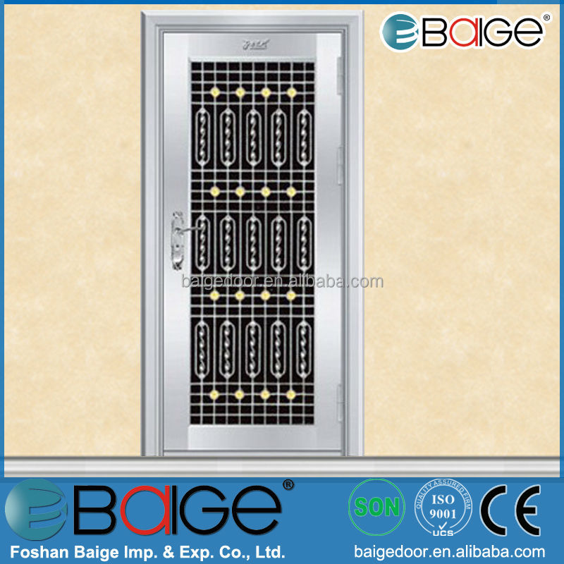 Bg Ss9058 Cheap Grill Designs Stainless Steel Front Door   Buy Stainless  Steel Front Door,Front Door Designs,Cheap Stainless Steel Door Product On  Alibaba. ...