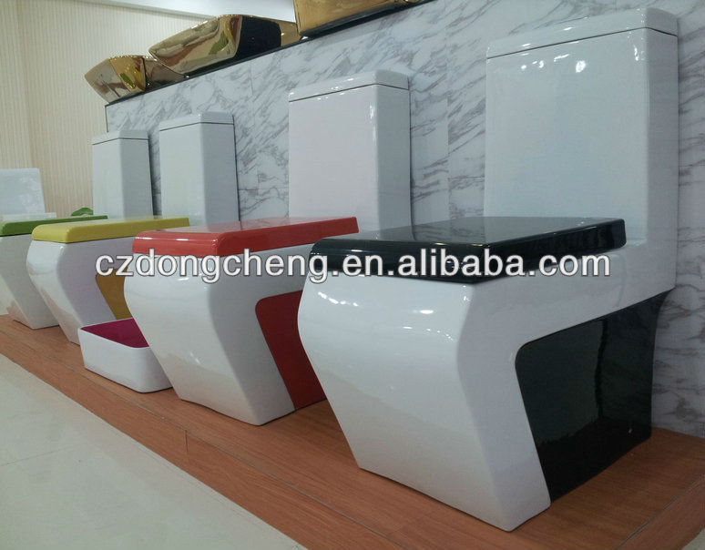 Bathrooom one piece coloured ceramic sanitary ware