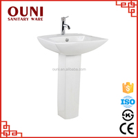 ON-502 Popular types toilet pedestal hand durable ceramic stylish wash basin