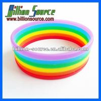 2014 colorful silicone rainbow bracelet