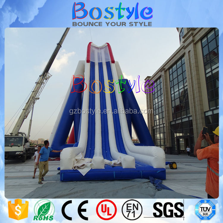 Giant jumping bouncer for adults, long inflatable dry slide for extreme sport