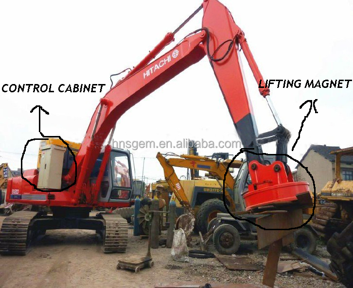 Scrap Lift Magnet For Excavator Magnet Excavator Lifting Scrap Excavator Lifting Magnet for Lifting Scrap