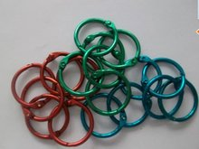 Factory Supply Colorful Metal Active O ring, Metal Office Book Ring
