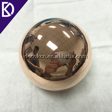 Custom made solid pure 99.9% 50mm 30mm 40mm copper sphere with mirror finish for art