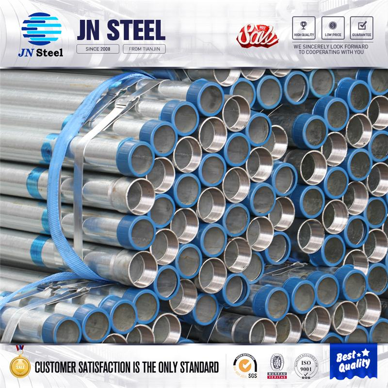 BS1387 light weight steel pipe bs4568 gi galvanized Threaded Welded Steel Pipe