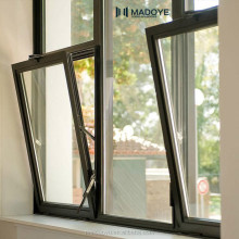 Casement style double glazing European standard Powder coating aluminum window