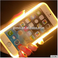 selfie phone case lights phone case with led flash light ,selfie rechargeable mobile phone case